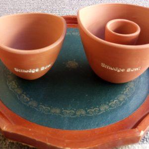 Clay Smudge Pots