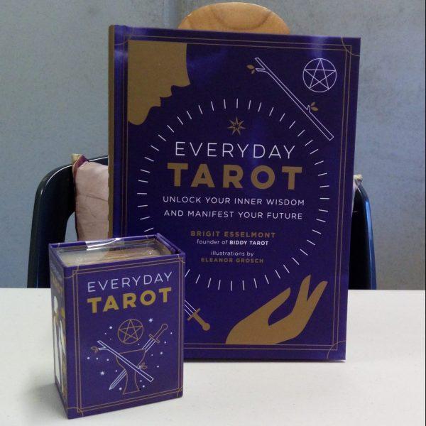Everyday Tarot book and mini Tarot deck set