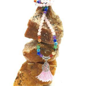 Crystal Mala Bead Necklace